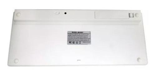 teclado bluetooth p/ iphone imac ipad macbook pc tablet