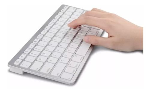 teclado bluetooth slim branco padrão apple sem fio   + nfe