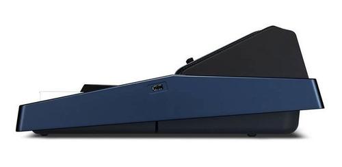 teclado casio arranjador mz-x500 61 teclas azul com fonte
