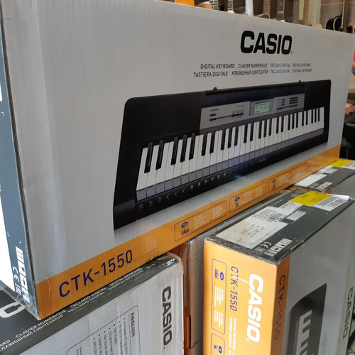 teclado casio ctk-1550 k2 br  5/8 61 teclas 120 tons