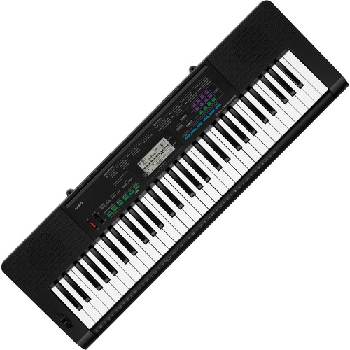 teclado casio ctk-3400 musical 61 teclas sensitivas preto