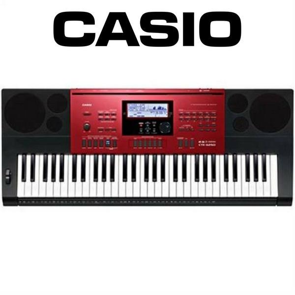 64d6542e389 Teclado Casio Ctk 6250 Red 61 Teclas 5 8 210 Ritmos 700 Tons - R  1.499