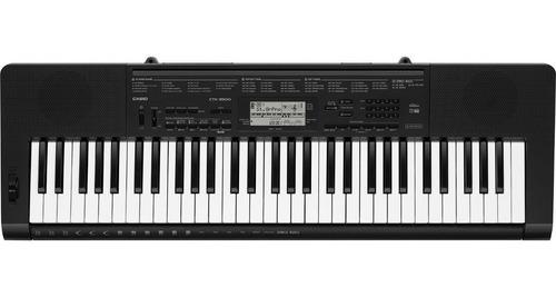 teclado casio ctk3500 5 octavas sensitivo + soporte + funda