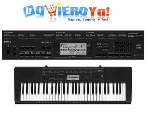 teclado casio ctk3500 sensitivo 5 octava + sop+fuente+funda