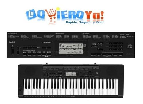 teclado casio ctk3500 sensitivo 5 octavas + soporte + fuente + funda