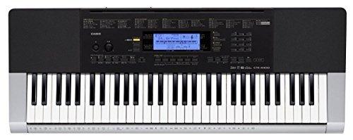 teclado casio ctk4400 ppk de 61 teclas con atril y audífonos