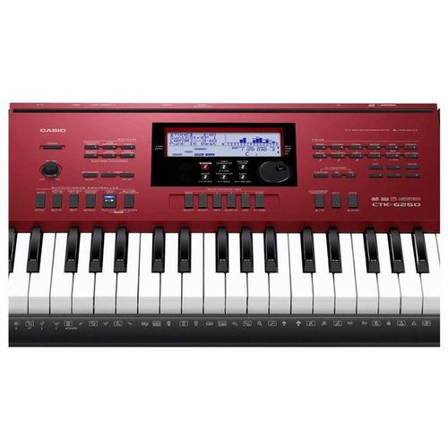 teclado casio ctk6250 arranjador 61 teclas com fonte