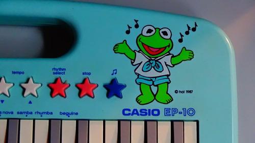 teclado casio ep-10 muppet babies jim henson's 1987