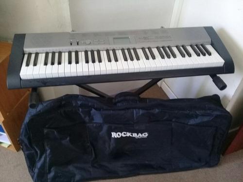 teclado casio lk-120+atril y funda