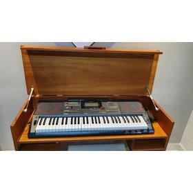 Teclado Casio Musical Digital Preto Ct-x5000 C2 Bk E Mesa