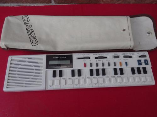 teclado casio vl-tone+estuche+manual+libro musical original