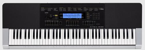 teclado casio wk240 sensitivo + fuente + soporte + funda