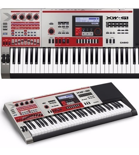 teclado casio xw-g1 sintetizador 61 teclas sensitivo ritmos