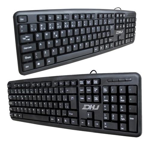 teclado com fio usb haiz  2.0 clássico escritório pc hz530