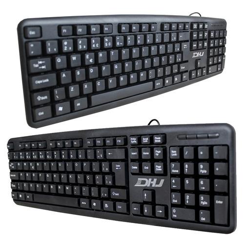 teclado com fio usb hz530 2.0 clássico escritório pc
