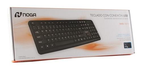 teclado con cable pc usb noga net nkb-78011 notebook español
