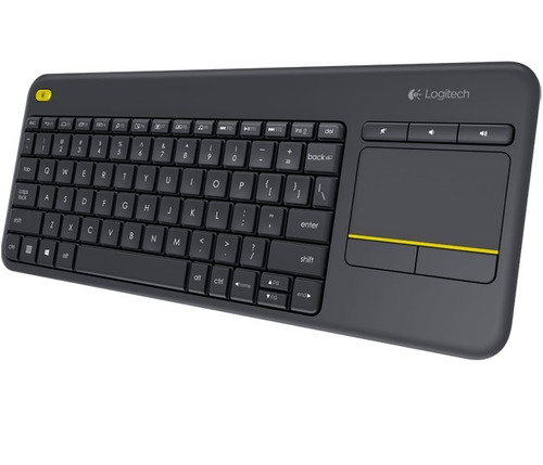 teclado con touchpad logitech k400 plus via usb