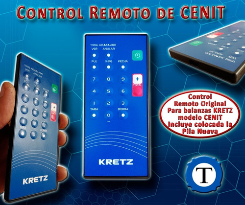 teclado control remoto p/ balanza kretz cenit original pila