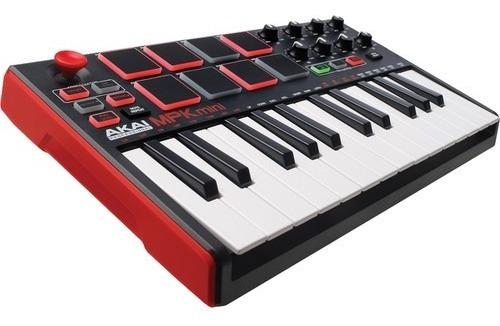 teclado controlador akai mpk mini mk2 + software hibrid 3