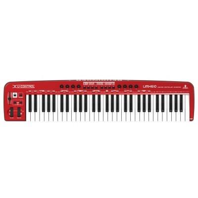 teclado controlador behringerusb midi umx610 61 teclas