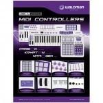 teclado controlador dj waldman carbon mini 25 teclas usb/mid