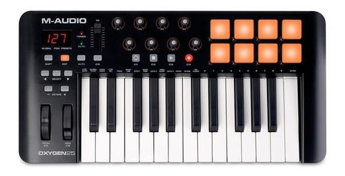 teclado controlador m-audio oxygen 25 v4 usb midi 25 teclas