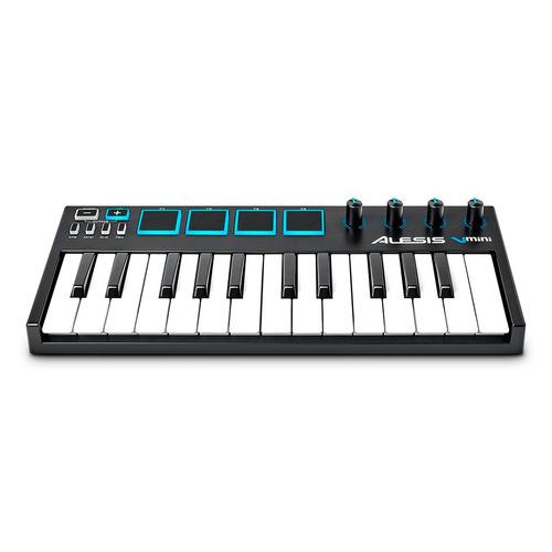 teclado controlador midi 25 teclas alesis vmini v mini  loja