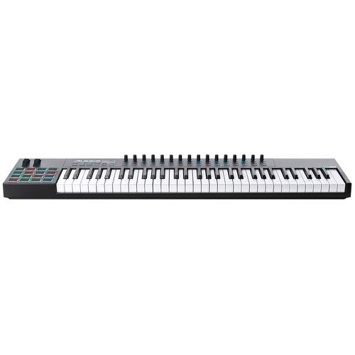 teclado controlador midi 61 teclas c/ usb - vi 61 alesis