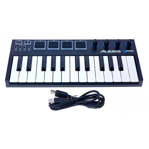 teclado controlador midi  alesis vmini 25 tecla loja oficial