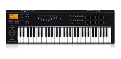 teclado controlador midi behringer motor 61 + garantía