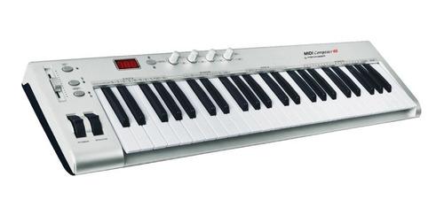 teclado controlador midi feninger 49 teclas 4 octavas usb