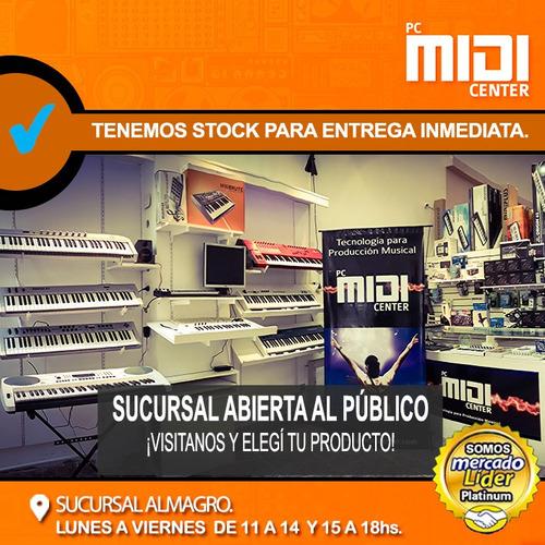 teclado controlador midi midiplus akm322 32 teclas sensitivo