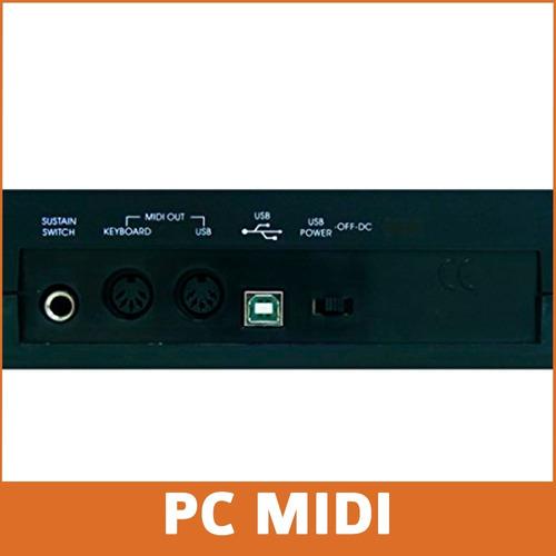 teclado controlador midi midiplus origin 49 sensitivo knobs