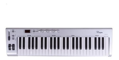 teclado controlador midi parquer custom 49 teclas sensitivo