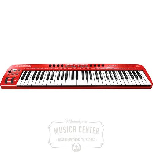 teclado controlador midi usb 61 teclas umx610 behringer