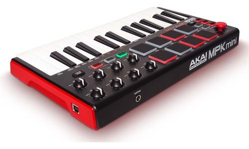 teclado controlador ultracompacto akai mpk mini mk2 de 25