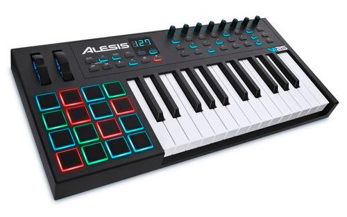 teclado controlador usb-midi com 25 teclas vi25 alesis