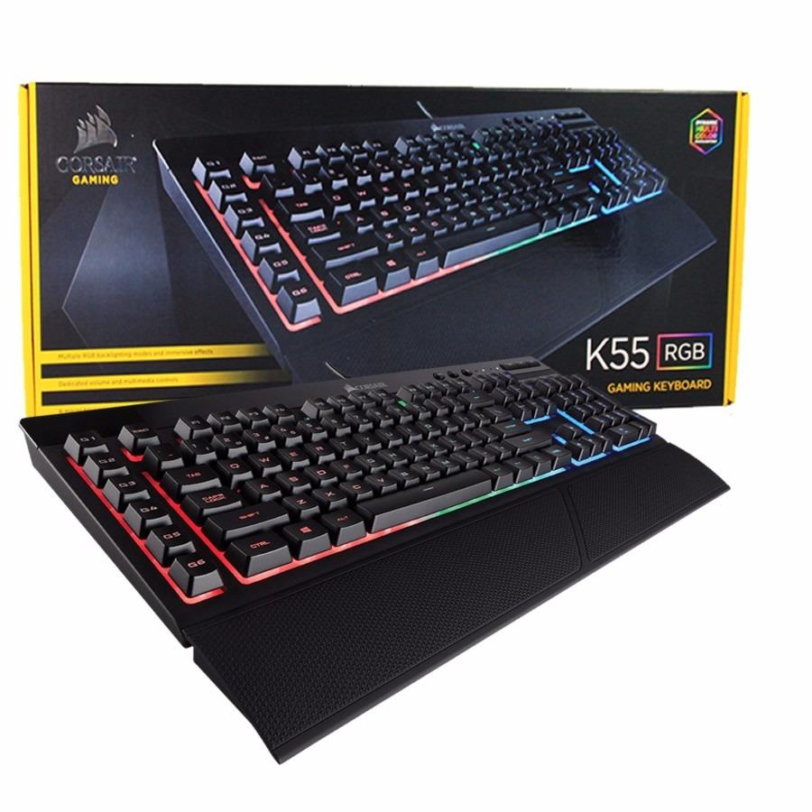 Teclado Corsair Gamer K55 Rgb Rapidfire Español