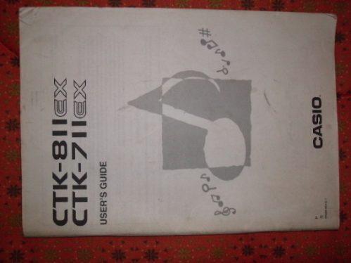 teclado ctk 811  ctk 711 catalogo de la casio