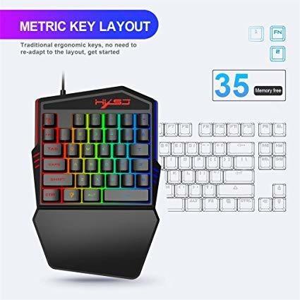 teclado de 34 teclas para videojuegos para una mano
