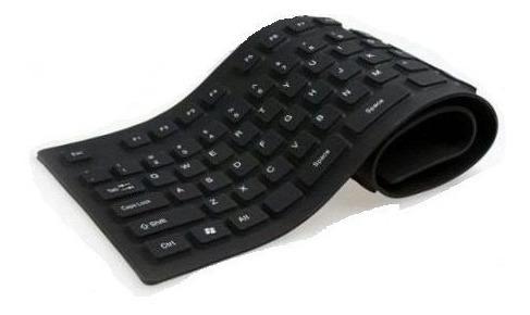 teclado de borracha flexível, em diversas cor,c/entrada usb