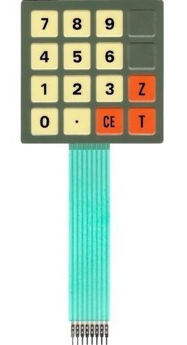 teclado de membrana balança filizola ea 15 marrom claro