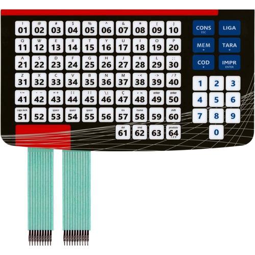 teclado de membrana balança filizola platina preto vermelho