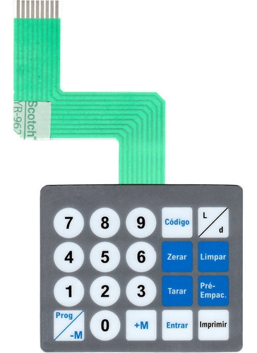 teclado de membrana balança toledo prix 3 cinza