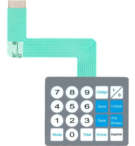 teclado de membrana balança toledo prix 3 cinza bateria