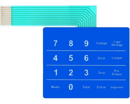 teclado de membrana balança toledo prix 3 lc azul nova