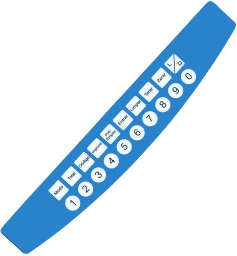 teclado de membrana balança toledo prix 3 light azul