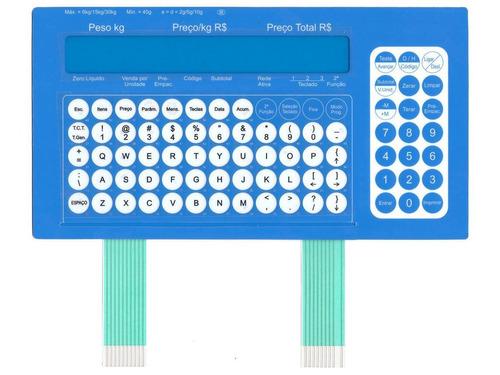 teclado de membrana balança toledo prix 4 flex azul