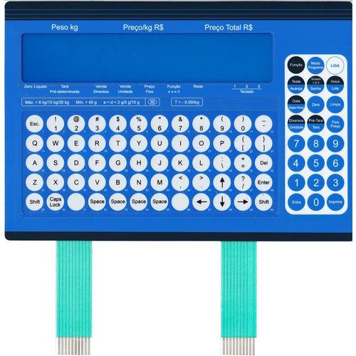 teclado de membrana balança toledo prix 5 azul 6kg 15kg 30kg