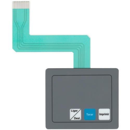 teclado de membrana da balança toledo 9094 flex cinza